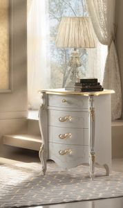 Rossini Art. 2506, Bedside table with gold details