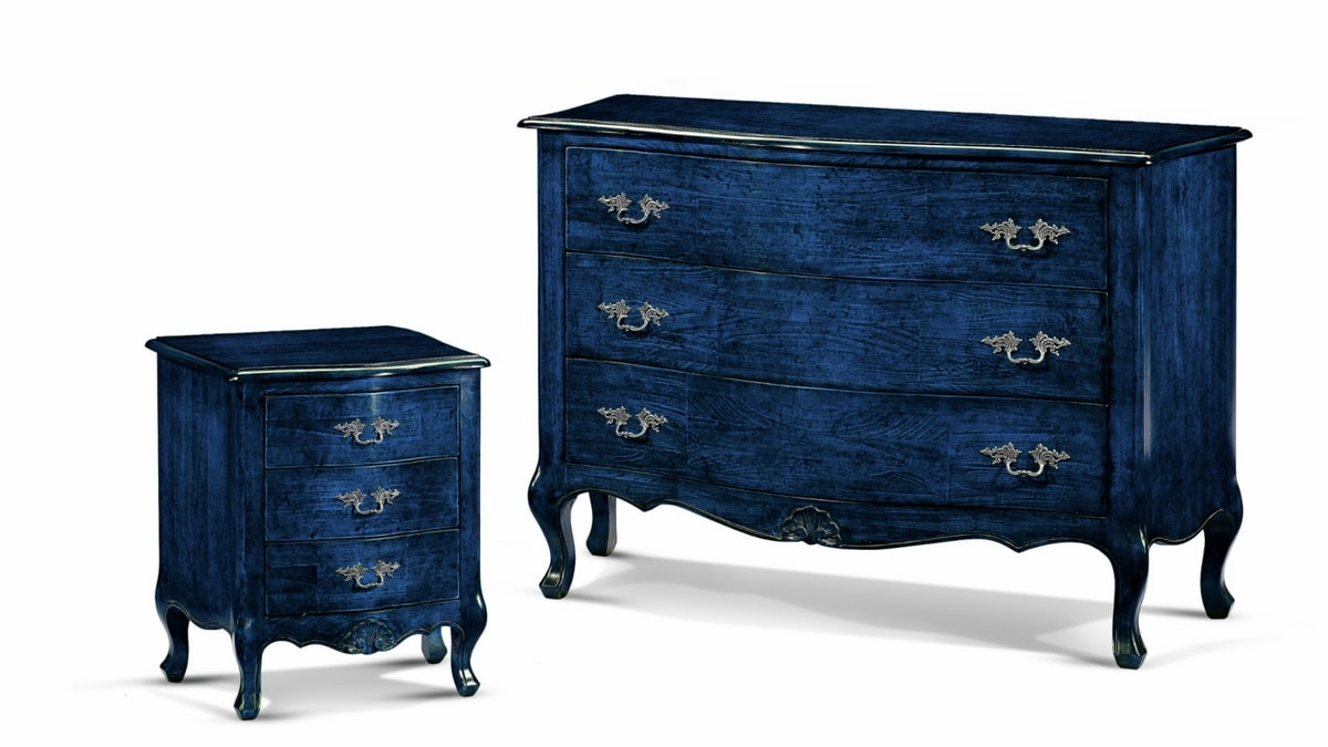 Venere nightstand, Bedside table in contemporary baroque style