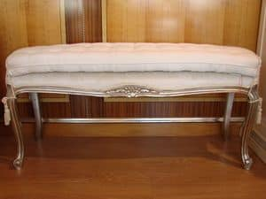 Art. 897, Luxury classic bench, upholstered seat, for bedroom