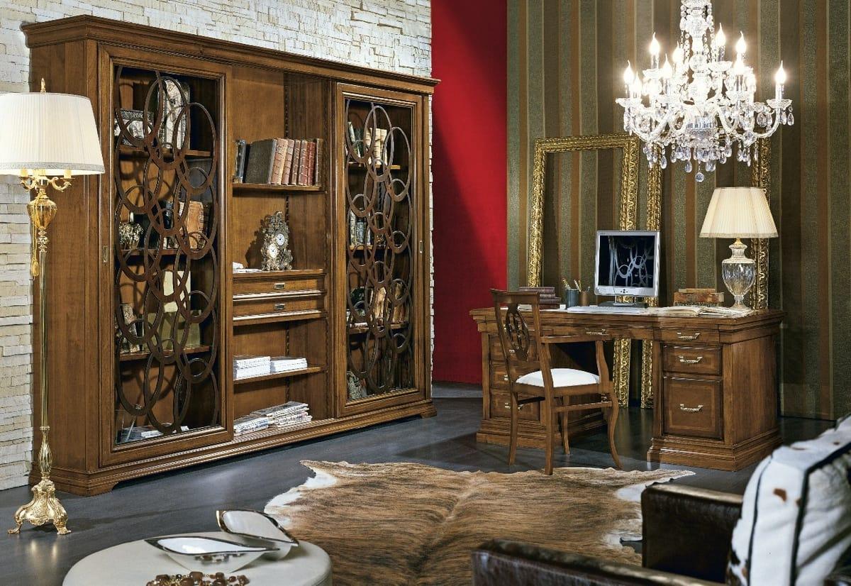 Armonie bookcase, Bookcase with sliding doors