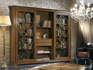 Armonie bookcase, Bookcase with sliding doors