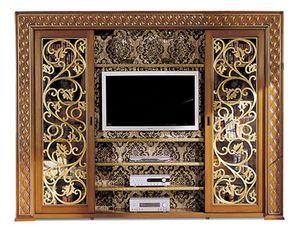 1095V2, TV cabinet with sliding doors