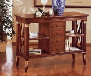 Art. 201, Low bookcase, luxurious, with drawers, for manor house