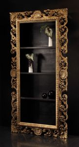 Art. 20668, Classic style bookcase with carved frame