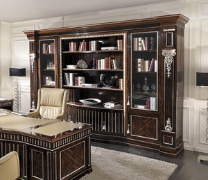 ART. 2940, Classic bookcase with ziricote finish