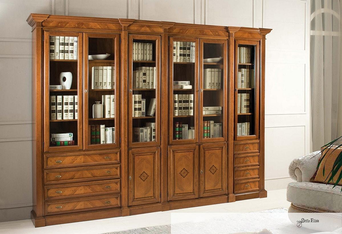 Art. 3600, Walnut bookcase