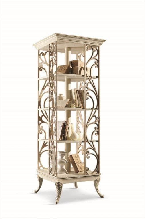 Art. 750, Revolving bookcase in wood for living rooms in classic style