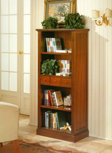 Art. 859, Classic bookcase with open shelves