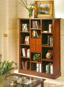 Art. 860, Classic style bookcase with drawers and shelves