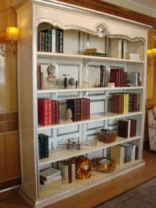 Art. 944, Lacquered bookcase, silver trim, for home