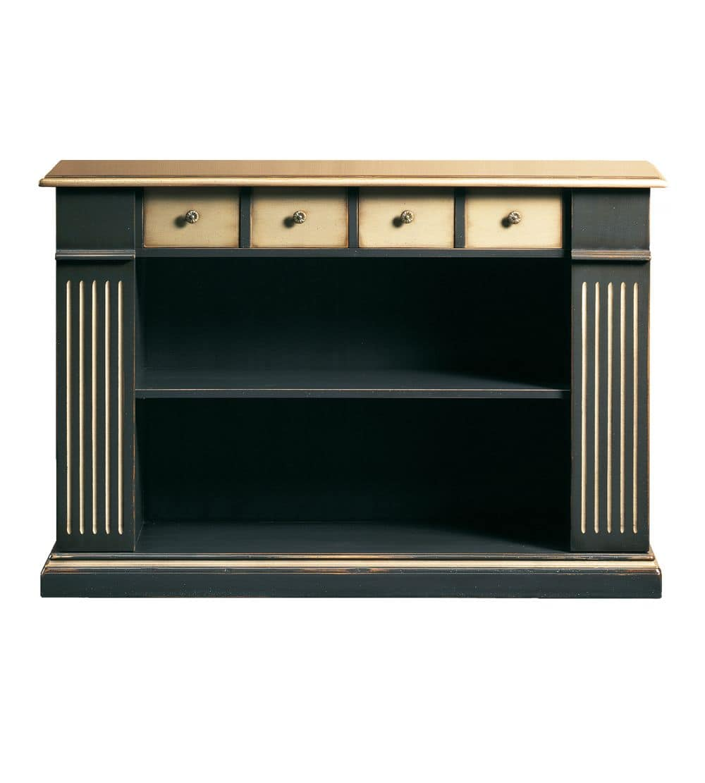 Camilla FA.0105, Bookcase with 4 drawers and 2 shelves, in classic style