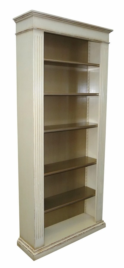 Federica FA.0103, Bookcase with 6 shelves, antique style