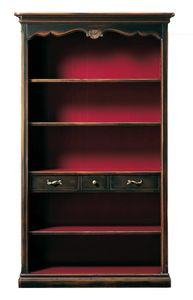 Grazia FA.0096, Provencal bookcase with three shelves and three drawers