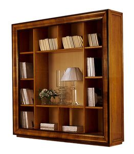 Herge CH.0061, Classic walnut outlet bookcase