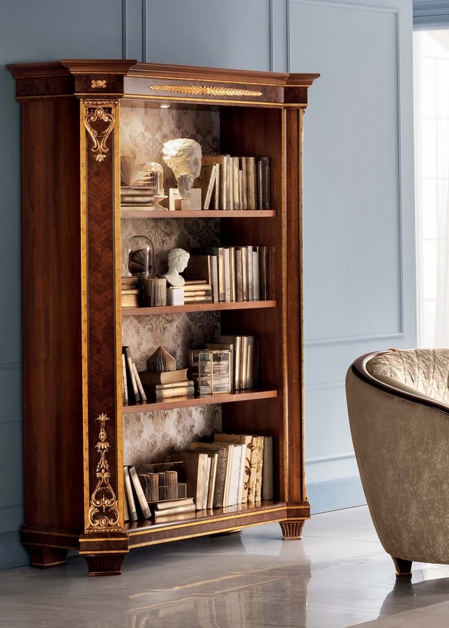 Modigliani 2 doors bookcase, Bookcase inspired by the empire style