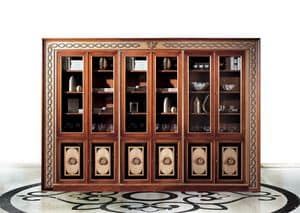 Paradise C/518, Classic bookcase with 6 doors