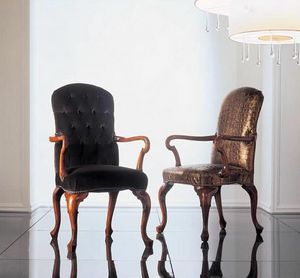 110P, Carved wooden chairs with arms Reception