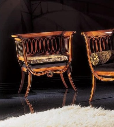 210P, Armchair in carved wood