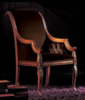240PLI, Armchairs with carved legs