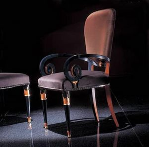 272P, Chair with decorative armrests