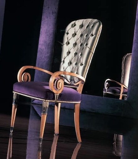 292P, Chair with wooden armrests