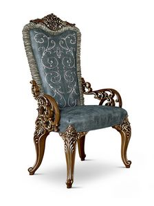 4609/A, Padded carved chair with armrests