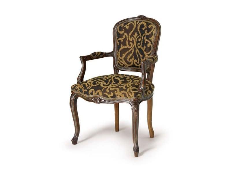 Art.109 armchair, Wooden armchair, Louis XV Style