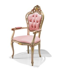 1323/A, Classic chair with arms for hotel