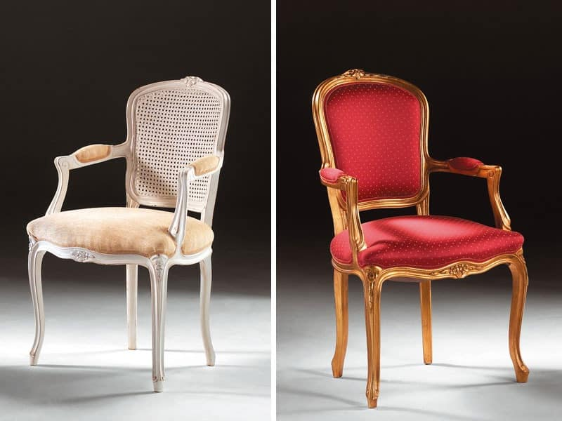 Art. 1430, Chair head of the table, in classic style, padded armrests