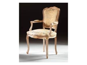 Art. 1440, Classic chair with wooden armrests, Louis XV Style