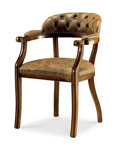 1479V2/A, Chair with arms, with capitonn� backrest