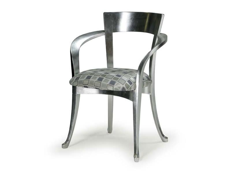 Art.446 armchair, Classic style chair made of wood with armrests