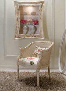 Art. 5080, Small armchair with Vienna straw backrest