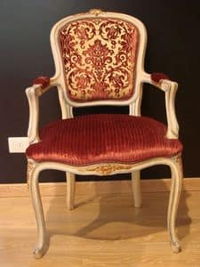 Art. 832, Classic armchair for home, antique lacquered wood
