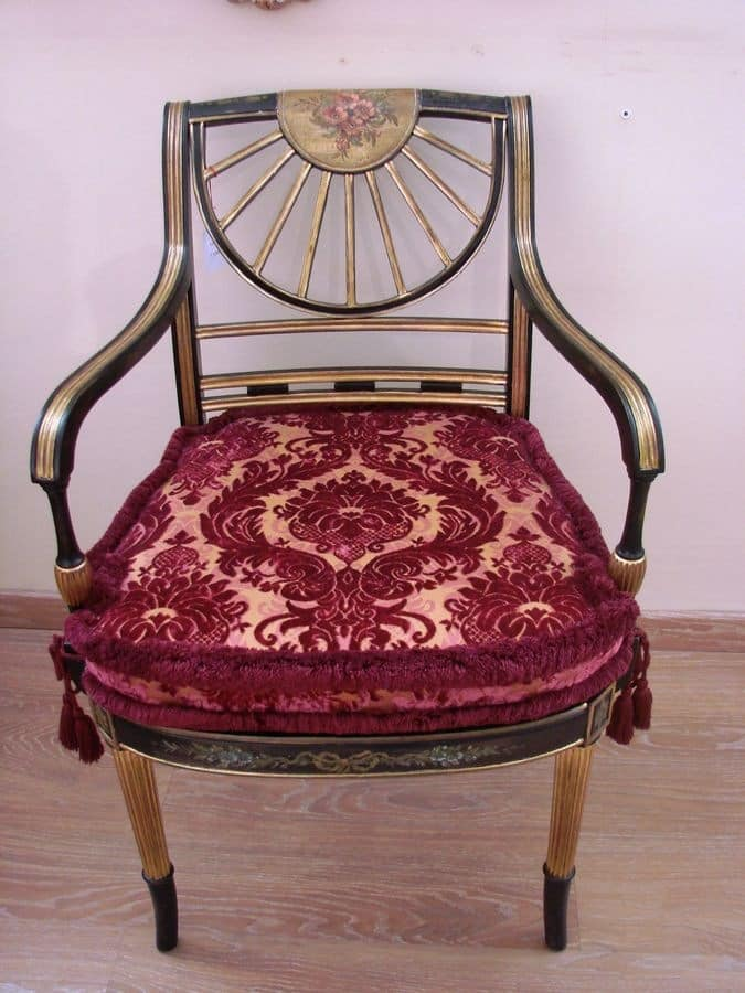 Art. 880, Classic armchair for houses, decorated wood