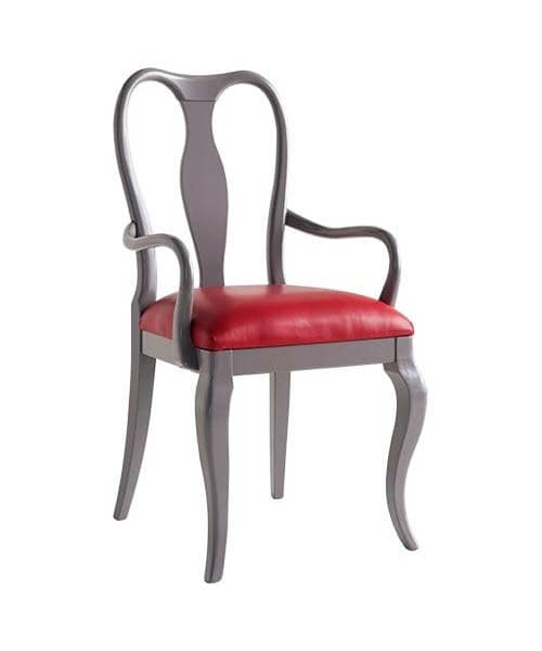 Art. CA131, Chair head of the table with sinuous lines, classic