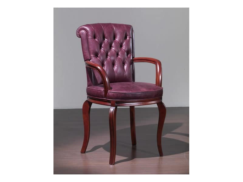 Bonn Chair with arms, Classic style chair, with armrests, for Hotel
