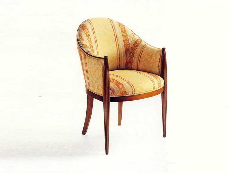 De Quincey, Classic upholstered armchair for hotel