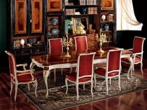 Display armchair 838 P, Armchair for dining room, classic style
