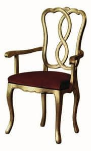 Pisanello RA.0988, Head of the table chair in walnut, for hotels and restaurants