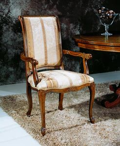 Regency chairs with armrests, Dining chair with armrests