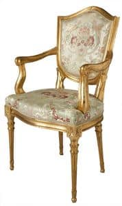 CHAIR ART. SD 0003, Head of the table chair in Venetian style, padded