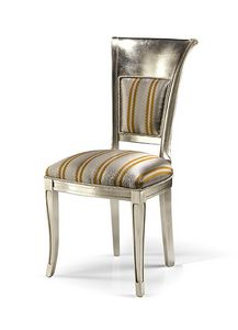 1022/S, Silver finish chair, for dining room