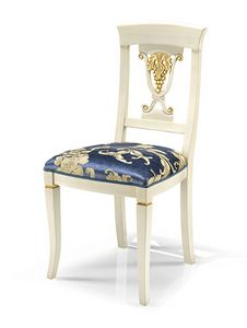 1462V2/S, Carved dining chair with padded seat