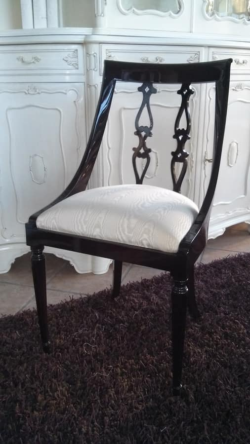 2290 CHAIR, Chair with curved backrest, English style