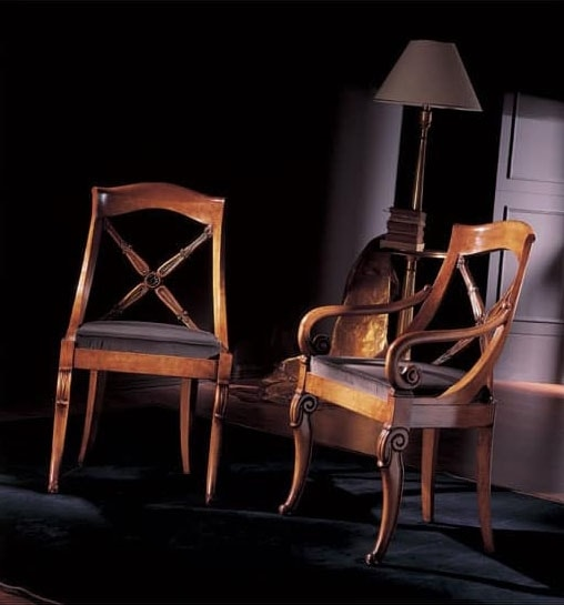 251S, Chair in decorated wood