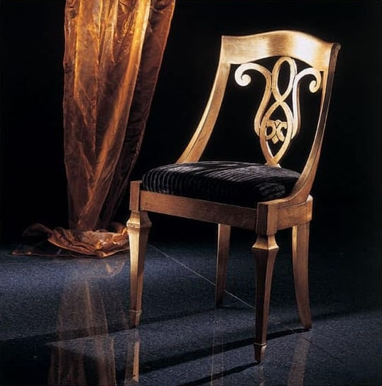 267S, Classic chair with decorated back