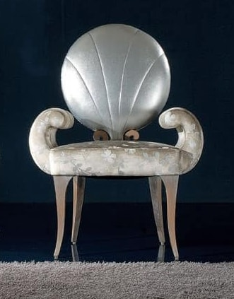281S, Wooden chair with round back