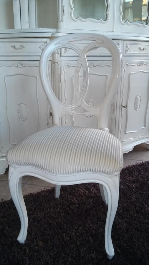 300 CHAIR, Chair without armrests, classic style