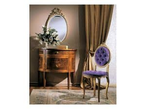 3290 CHAIR, Padded wooden chair, classic luxury style